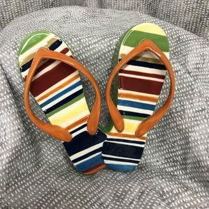 Longaberger Summer Stripes Napkin Weight Holder